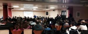 La sala Vesta del Victoria Terme Hotel, piena in occasione della cerimonia finale del premio Internazionale di poesia Orazio
